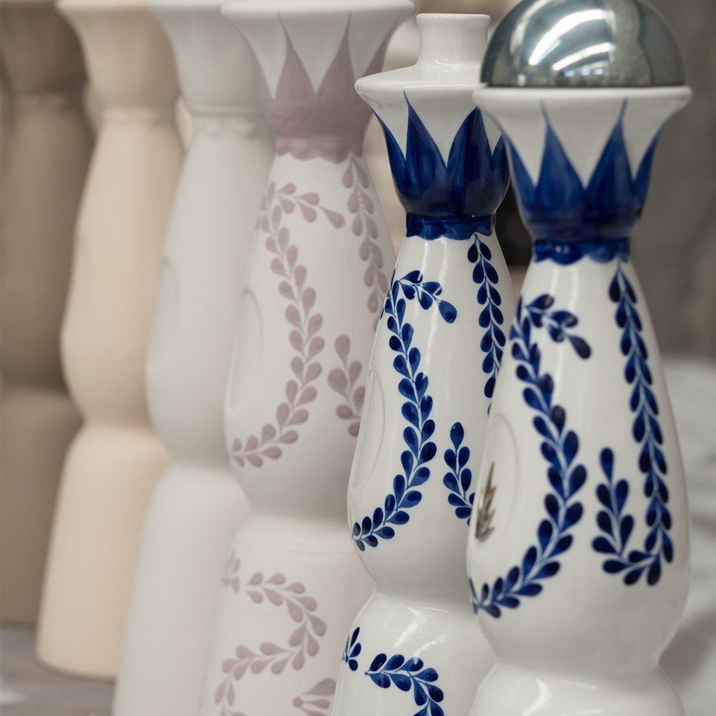 Bottles of Clase Azul spirits