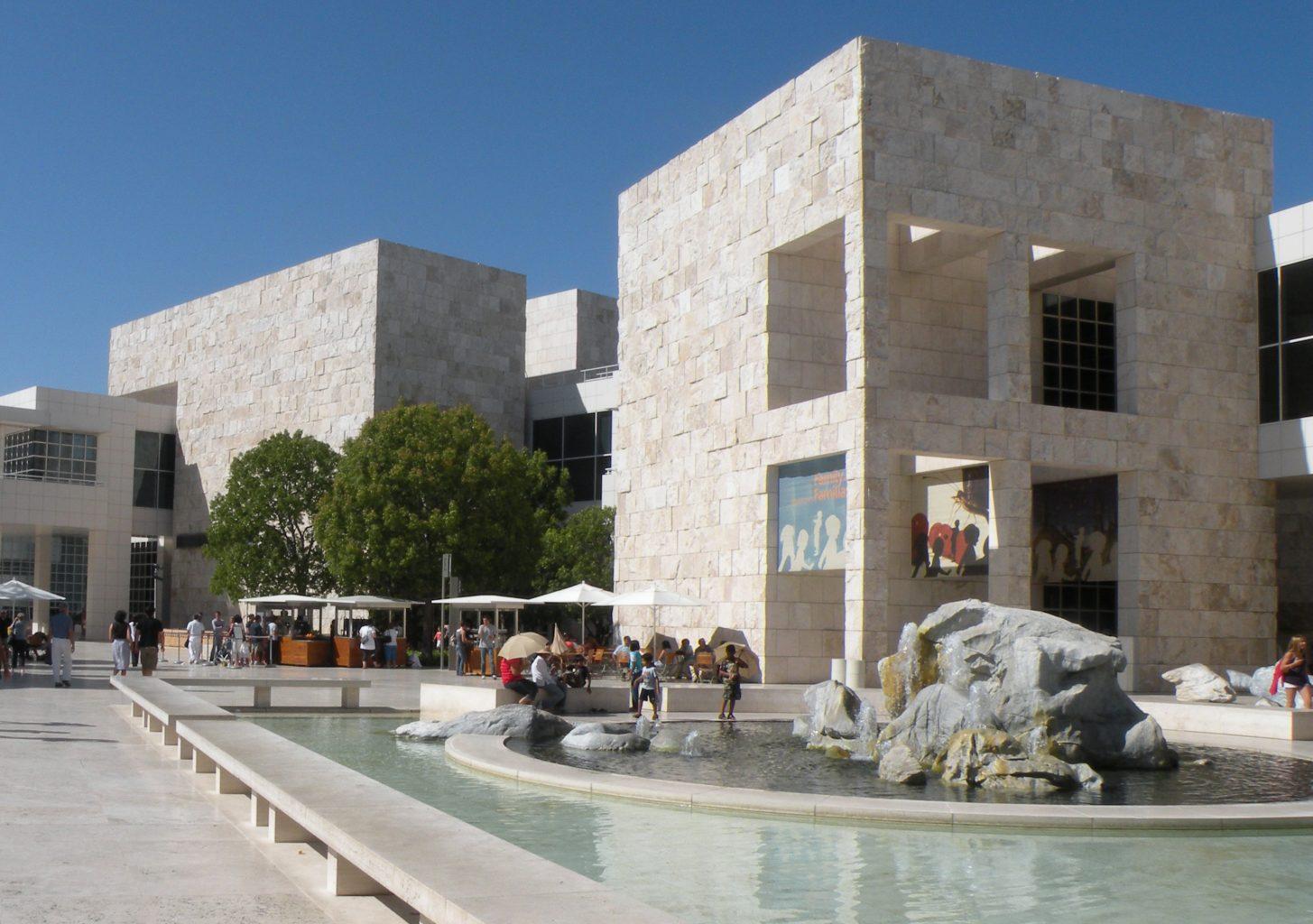 Getty Museum courtyard